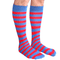 mens striped tube socks blue/red
