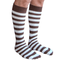 brown and white striped mens socks