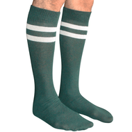 mens dark green and white tube socks