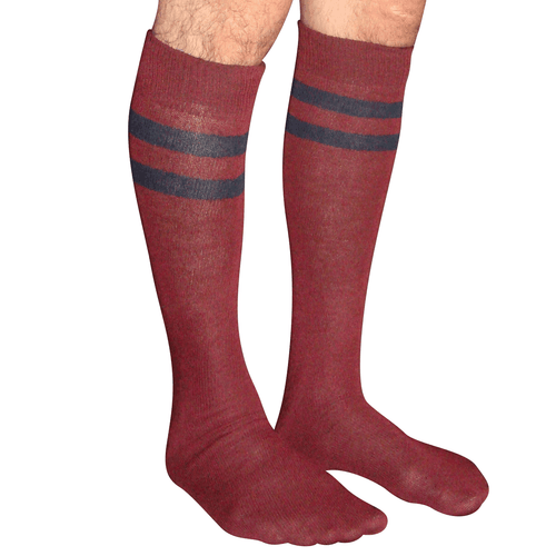 maroon and navy striped mens socks