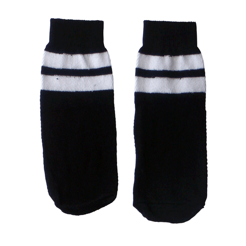 kids black/white striped tube socks