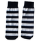 black/white striped kids socks
