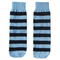 blue and black striped kids socks