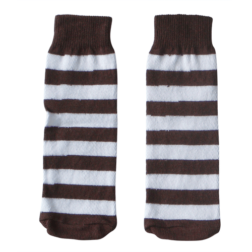 brown and white kids socks