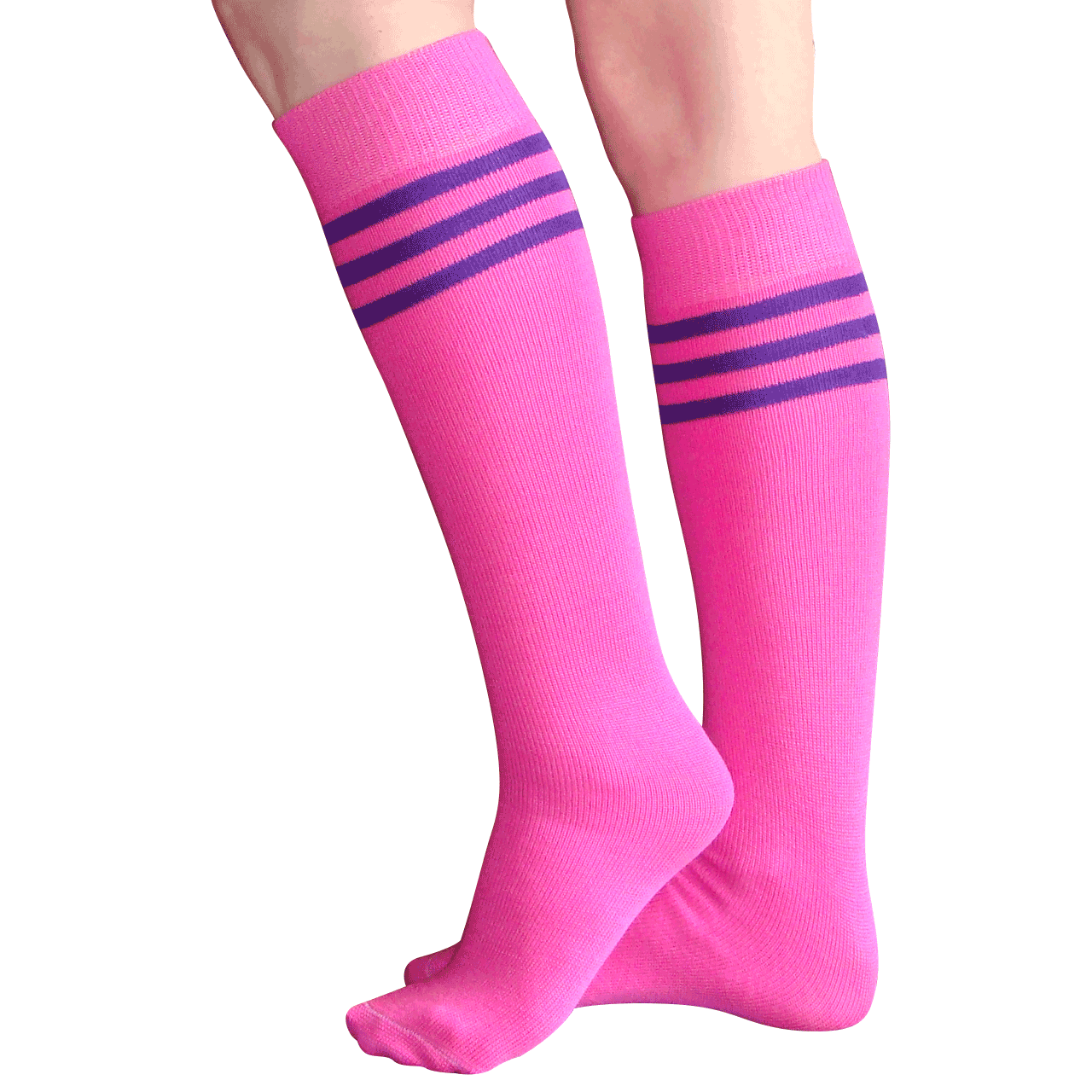 1460c1165e5 Neon Pink and Purple Knee Highs