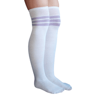 lilac striped thigh highs
