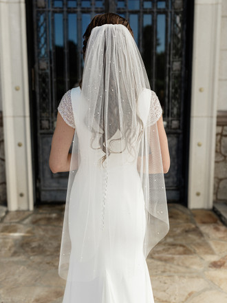 Single Tier Bridal Veil | V2087SF