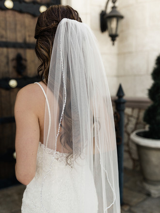 Single Tier Bridal Veil | V2092SF
