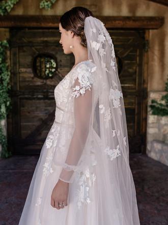 Waltz Bridal Veil | V2093WZ