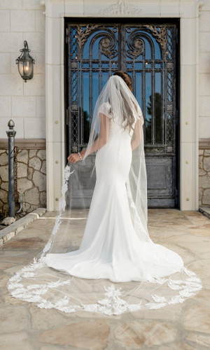 Cathedral Bridal Veil | V2098C
