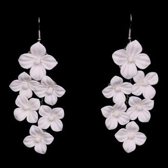 Fabric Flower Earrings | E2160
