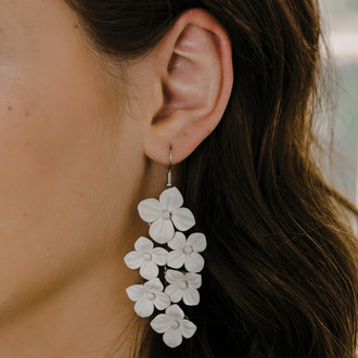 Fabric Flower Earrings | E2160