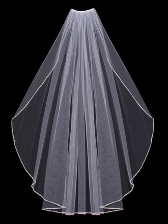 Single Tier Bridal Veil