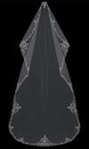 Mantilla-Cut Cathedral Bridal Veil