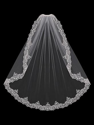 Single Tier Bridal Veil