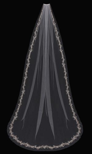 Cathedral Bridal Veil | V1797C