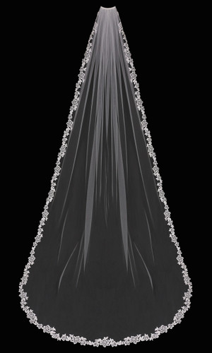 Cathedral Bridal Veil | V1799C