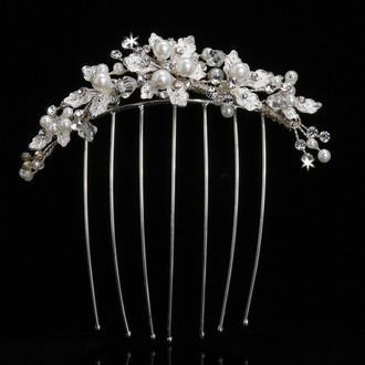Pearl Bead Veil Comb