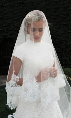 Mantilla Bridal Veil | V1998C-M