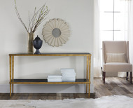 Wrought and Gilded Console Table
