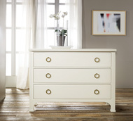 Painted Three Drawer Commode