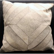 Grey Hide Patchwork Pillow
