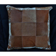 Brown Natural Cow Hide Pillow