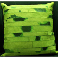 Green Cow Hide Pillow