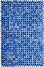 Blue Cow Hide Rug