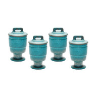 Metallic Patina Filled Votive - Set Of 4