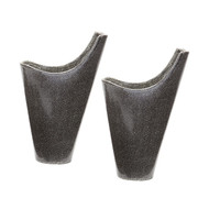 Reaction Filled Vases In Grey -Set Of 2