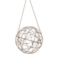 Aged Iron Wire Sphere