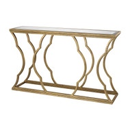 Lazy Susan Metal Cloud Console Table