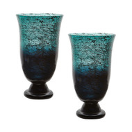 Ombre Flared Vase - Set Of 2