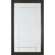 Ebony And Bronze Leaf Nine Panel Mirror