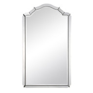 Framed Mirror With Antiqued Silver Leaf Sides