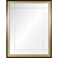 Gold & Ebony Nine Panel Mirror