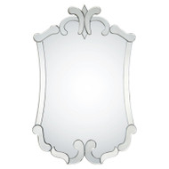 Venetian Framed Mirror With Distressed Silver Leaf Sides
