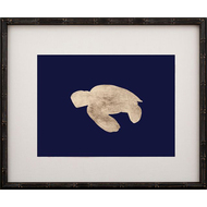 Gold Leaf Turtle - Left Facing on Navy Paper