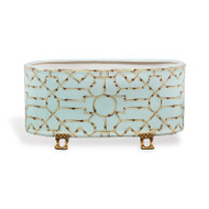 Baldwin Blue Oval Planter