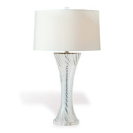 Bella Clear Lamp With Cream Shade
