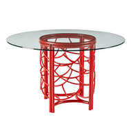 DOT Dining Table Base With Glass Top