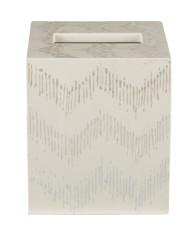 Ikat Tissue Box - White