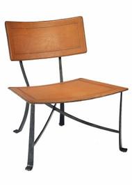 Klismos Wrought Iron Lounge Chair