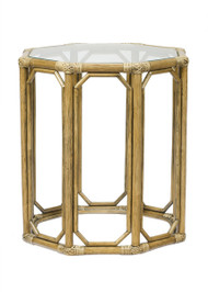 Regeant Octagon End Table With Glass