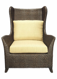 Riva Hourglass Weave Bergere Chair