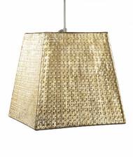 Seline Square Tapered Pendant - Metallic