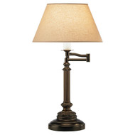 Abbey Bronze Swing Arm Table Lamp - Victorian Bronze