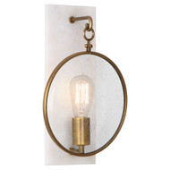 Fineas Wall Sconce - Aged Brass - Alabaster