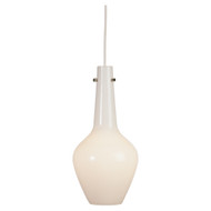 Jonathan Adler Capri Pendant - Polished Nickel - White